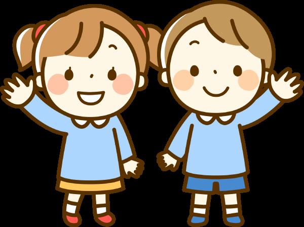 女の子と男の子のイラスト